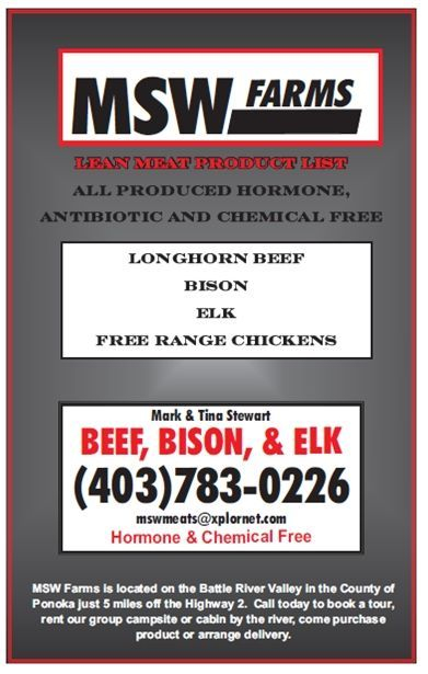 MSW Meats.  Organic products