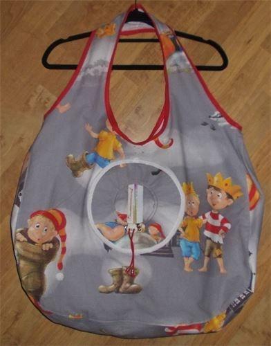 XXL - Henkel-Tasche kann man Falten und in eine eingearbeitete runde Tasche verstauen. Nr. N-T-5