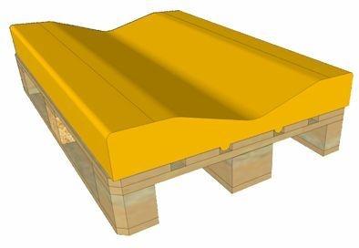 EURO-Paletten-Auflage für Papier- oder Folienrollen Rollenoffsetdruck
