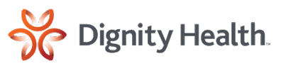 Logo with words Dignity Health