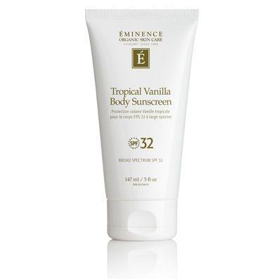 Tropical Vanilla Body Sunscreen SPF 32,  eminence organics, shop eminence ottawa, barrhaven spa gift