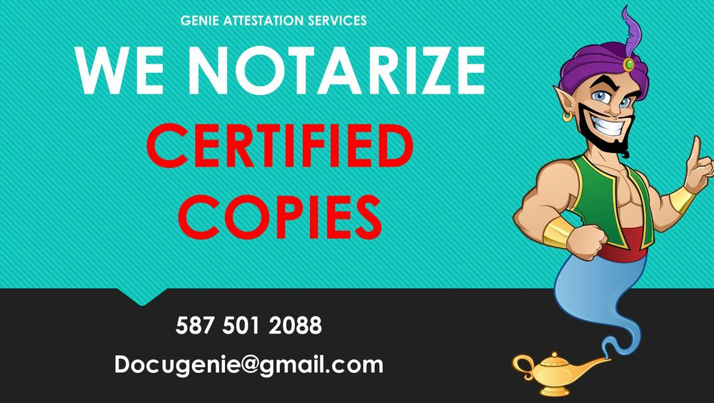 Certified True Copy by Notary Public