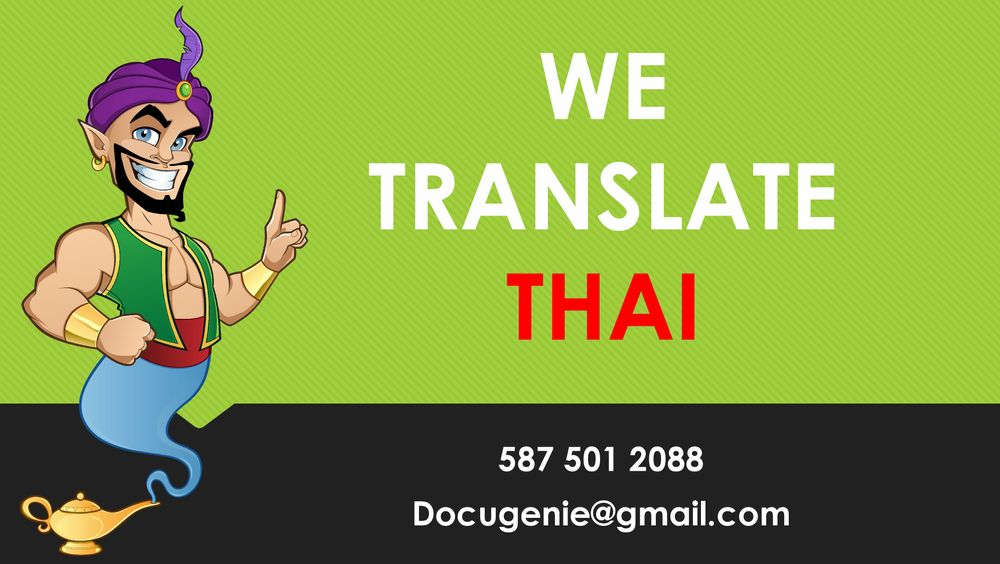 Certified THAI Translation