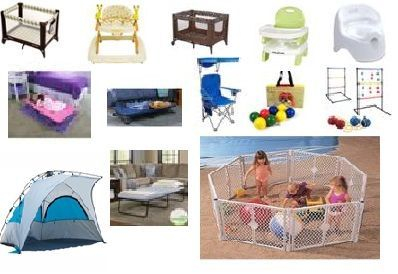 Rent baby and beach gear
