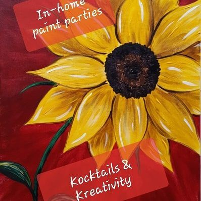 Sunflower painting with caption