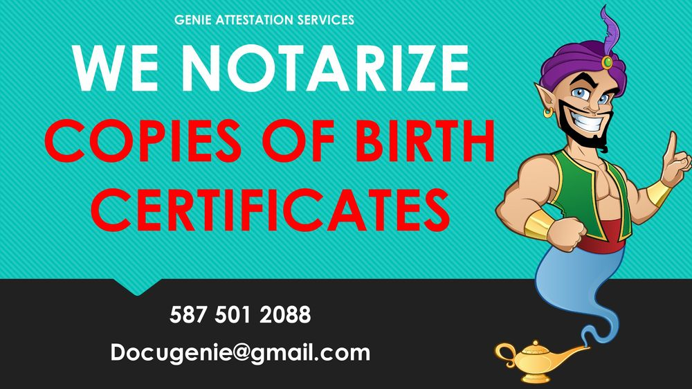 Birth Certificate Notarization