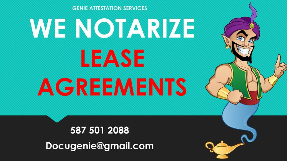 Notarization of Lease Agreement