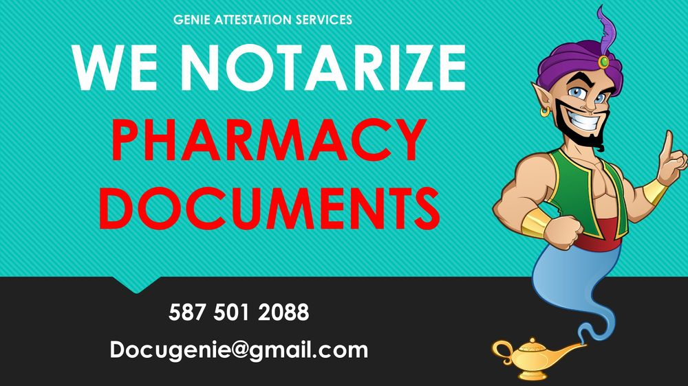 Notarization of Pharmacy Applications