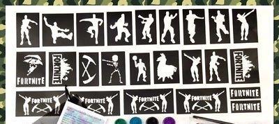 boys fortnite glitter tattoo kits and stencils