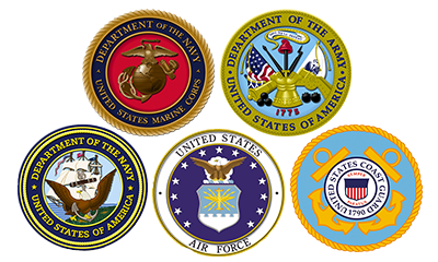 United States Marine Corp Army Navy Air Force Coast Guard