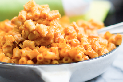 Vegan mac and cheeseless pasta catering