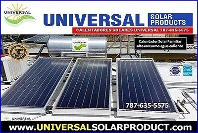 calentador solar Universal 3 placas