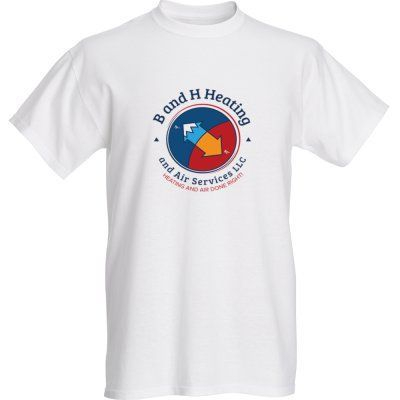 T-shirt with the company logo