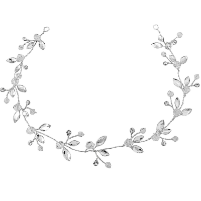 Chic and elegant crystal hair vine - with high quality cz crystals on a silver finish. Size is 33 cm long.
