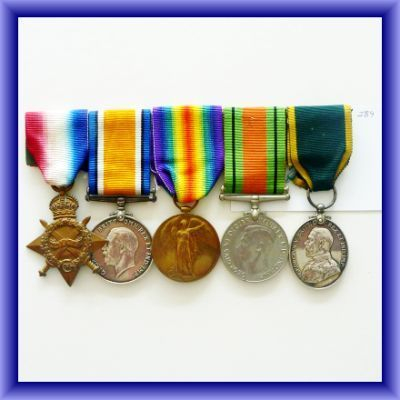 WAR MEDALS/D.WESTON/R.Scots/5 medal group