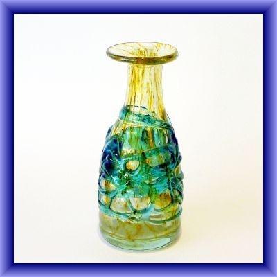 MDINA bottle vase with trailing,17.5cm