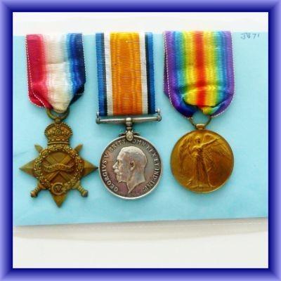 WW1 MEDALS, J.H.DONNLSON/Served on Trogen/WW1 trio