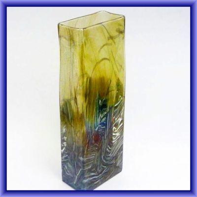 /RARE ISLE OF WIGHT GLASS/Rare Nightscape signed by Michael Harris, 33.5 cm h x 12cm w x 6.5d