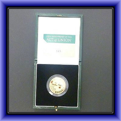 GOLD COINS/£2 Gold proof/Act of Union-GOLD COIN