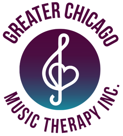 Greater Chicago Music Therapy logo treble clef heart