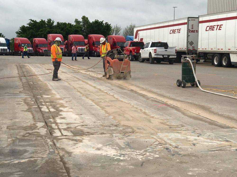 """Below are pics of a project we did last month in Wilmer Texas  Concrete demo & haul off 6,000 sq ft of 8"""" concrete paving."""