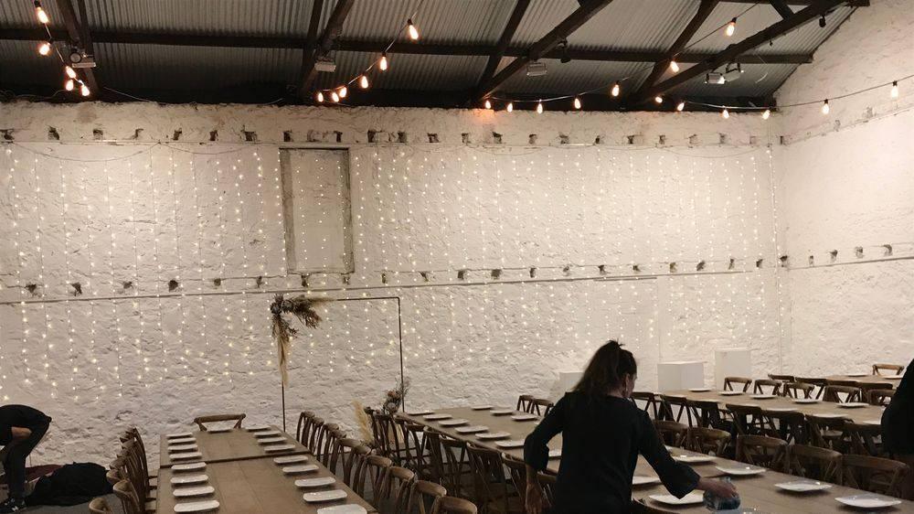 festoon light hire wedding rotto freohire freo hire bamboo pole