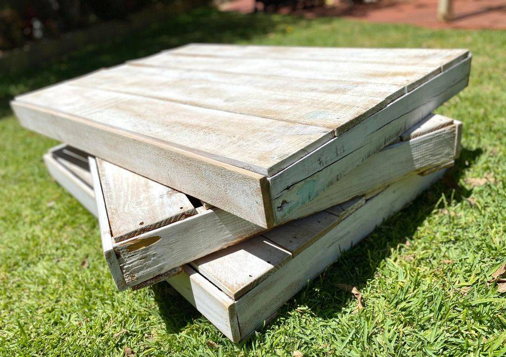 White Pallet Tables for Hire