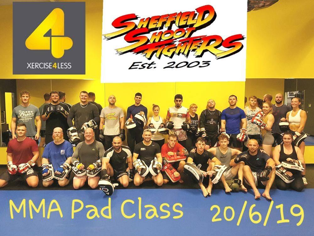 MMA BJJ pad class thai boxing sheffield