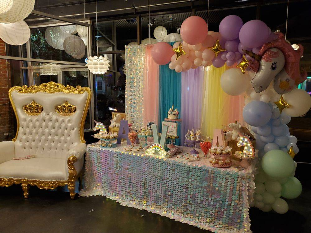 Baby Shower Candy Buffet or Treats Table