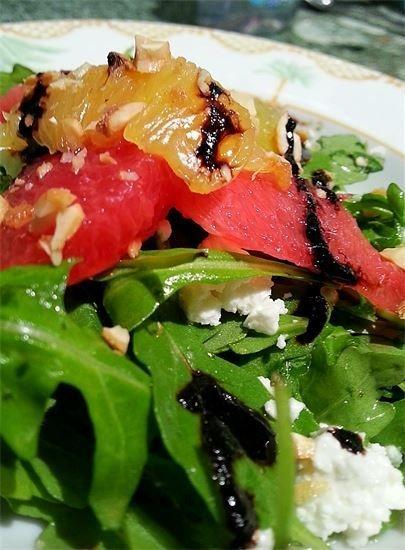 Grapefruit, Feta and Arugula Salad