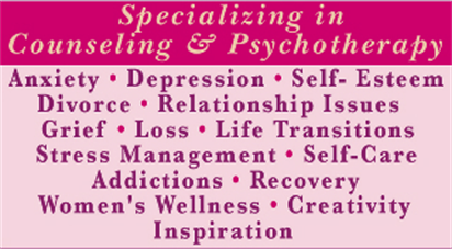 Specializing in Counseling and Psychotherapy