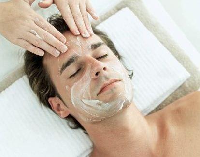Man enjoying Rebalancing Facial at Facial Studio Brighton