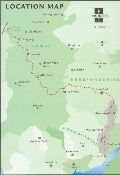 Wye Valley Way, walking in Wales, trek in Wales