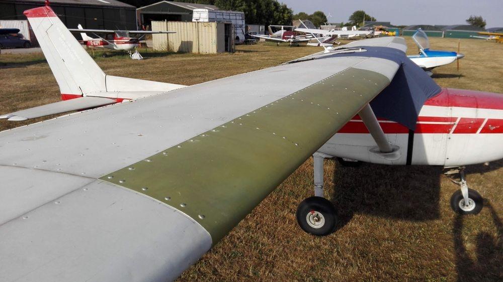 Cessna 150 leading edge repair.