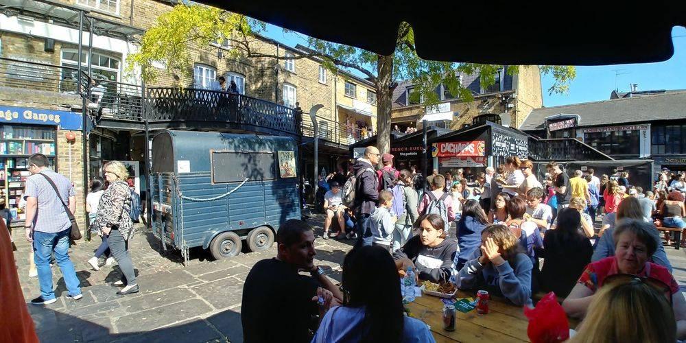 british & far east traders, camden lock, camden market, regent's canal london, international street food market