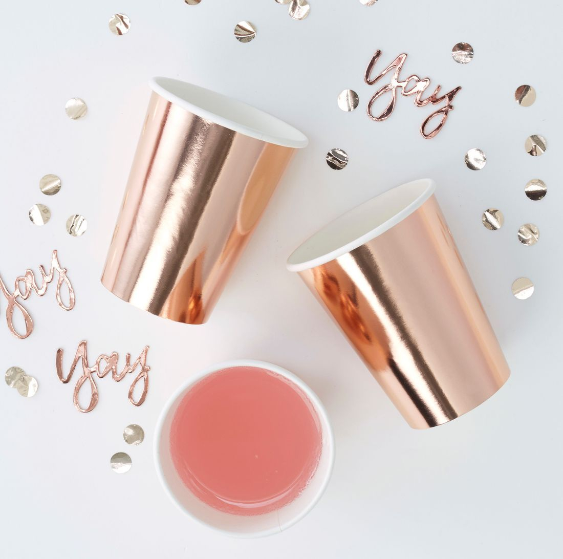 Rose Gold Cups