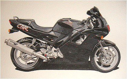 Honda CBR  (Acrylic) : Commission - never collected (Yes it happens!!!!) - NOW SOLD