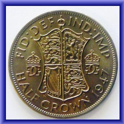 George VI half crown REV