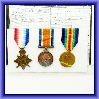 WW1 trio, 9644.2A.M.S.B.Carter R.F.C.
