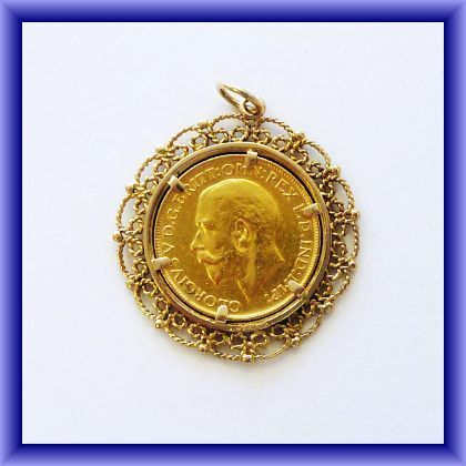 FULL SOVEREIGN, 1911 with 9ct necklace mount (we can provite more info/pictures if required)