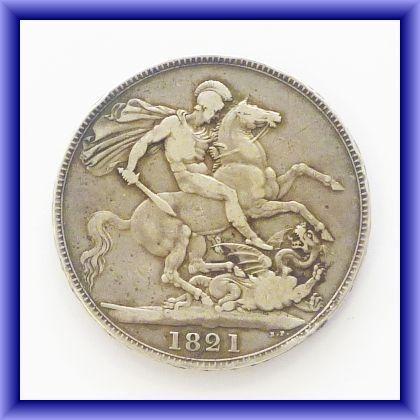 OLD BRITISH COINS/George IIII, 1821 SECUNDO (REV)