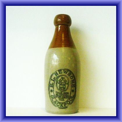 GINGER BEER BOTTLES/Vintage Blackpool ginger beer bottle