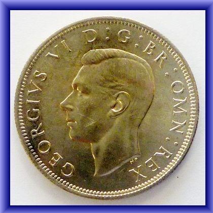 OLD BRITISH COINS/1941 George VI half crown BU