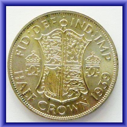 OLD COINS/1939 half crown BU