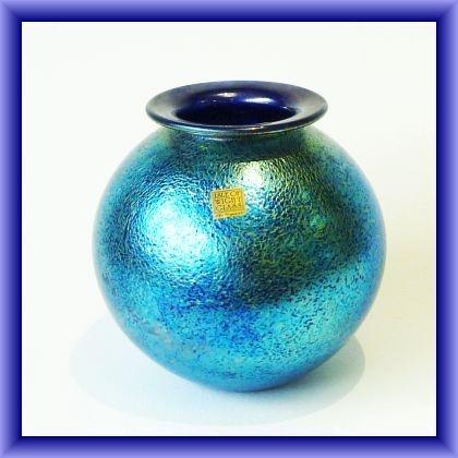 ISLE OF WIGHT GLASS- globe vase,43cm  diam