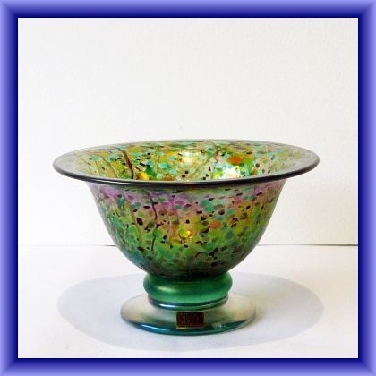 Isle of  Wight Green Summer Fruits  open bowl,8cm h x 13 cm circumstance