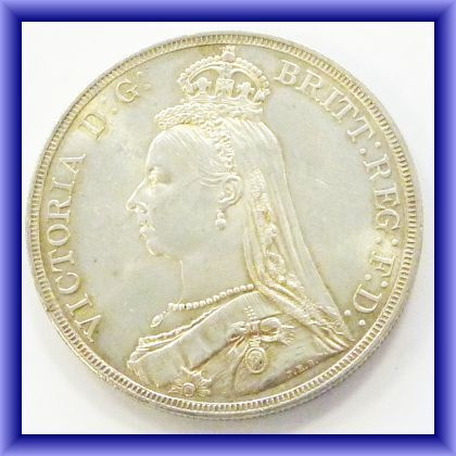 OLD BRITISH COINS/Victoria Jubilee Crown 1887 UNC