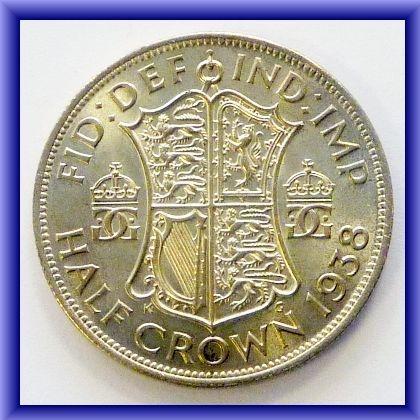 OLD BRITISH COINS/1938  halfcrown BU