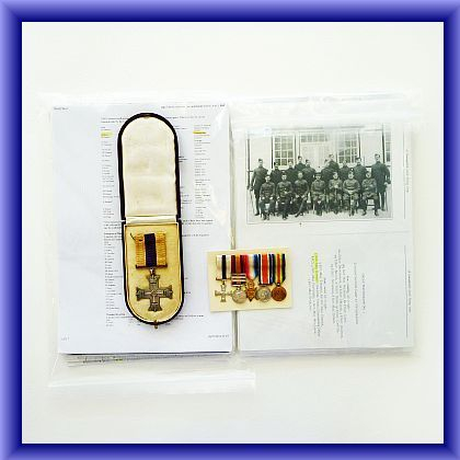 MILITARY CROSS/WW1 MEDALS, Military cross to Captain J.Ramsey, with full set of miniatures(please contact us for details)