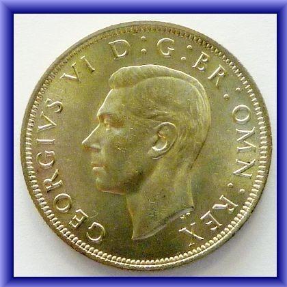 1939 Half crown - BU- OLD COINS